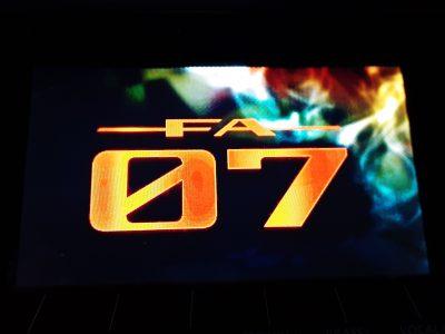 FA-07 起動画面