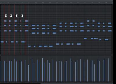 JD-Pianoの付点8分の固まり