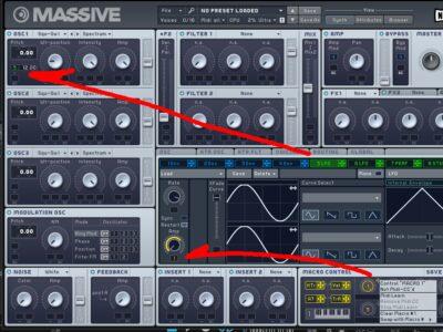 MASSIVEのモジュレーションレバーの設定画像